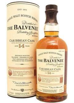 виски Balvenie Caribbean Cask 14 Y.O. в Duty Free купить с доставкой в Санкт-Петербурге