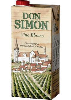 вино Don Simon, Blanco Seco, Tetra Pak, 1л в Duty Free купить с доставкой в Санкт-Петербурге