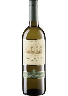 вино Crimean Heritage, White Semi-Sweet в Duty Free купить с доставкой в Санкт-Петербурге